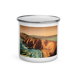 """Enamel Mug """"Tomales Point"""" by """"chateaugrief"""""""