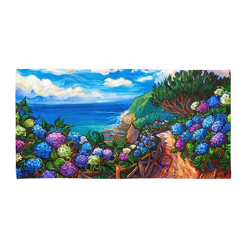"Beach Towel ""Azores Walk"" by ""LauraZee"""