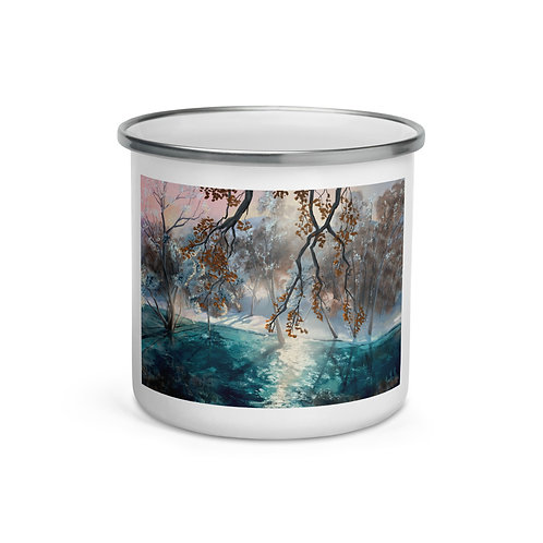 """Enamel Mug """"Winter Snow"""" by """"chateaugrief"""""""