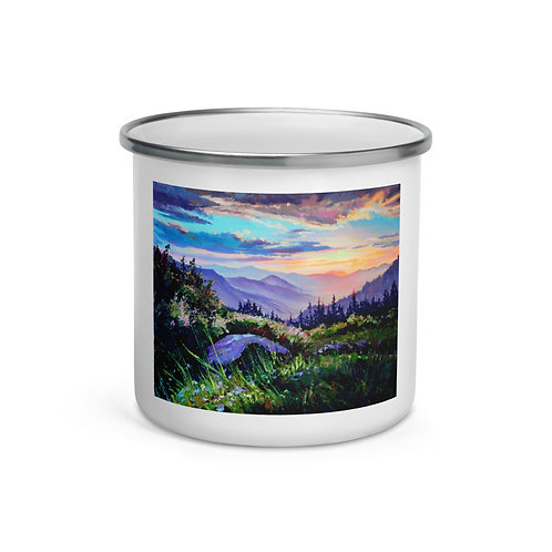 "Enamel Mug ""Sunset"" by Gudzart"