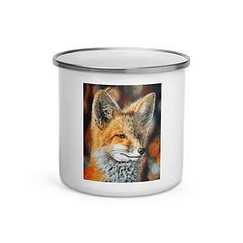 "Enamel Mug ""Bright Side of the Red Fox"" by Beckykidus"