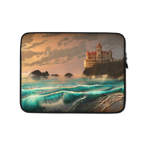 """Laptop sleeve """"Cliff House"""" by Chateaugrief"""