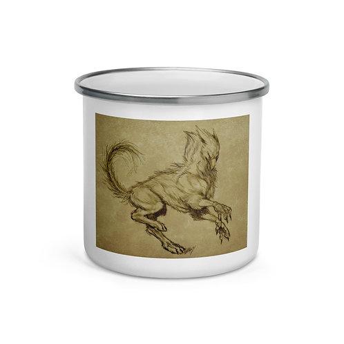 """Enamel Mug """"Printing"""" by Lizkay"""