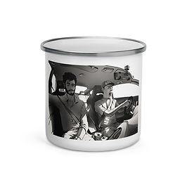 "Enamel Mug ""Long Drive"" by Ccayco"
