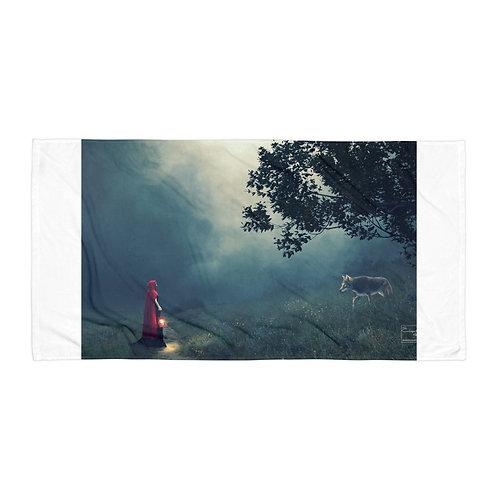 """Beach Towel """"Meeting in the Fog"""" by Elysekh"""