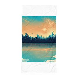 """Beach Towel """"Winter Reflection """" by Saddielynn"""