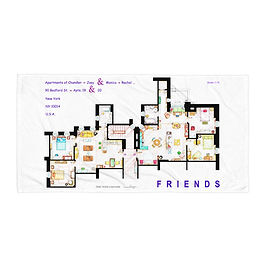 "Beach Towel ""Friends"" by ""NikNeuk"""