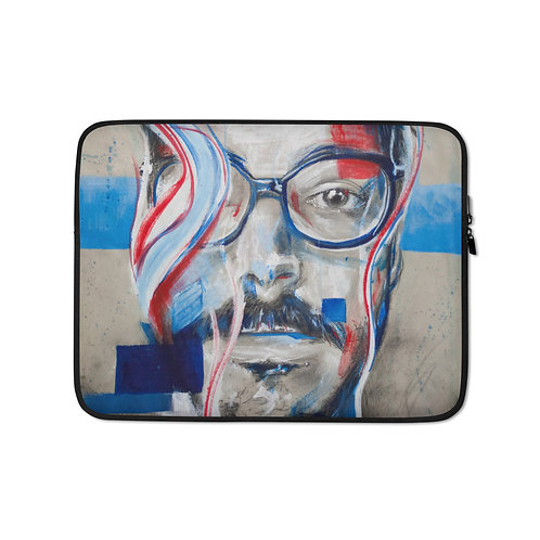 """Laptop sleeve """"Hey Oncley"""" by MikeOncley"""