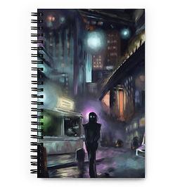 """Notebook """"Cyberpunk City"""" by Hymnodi"""