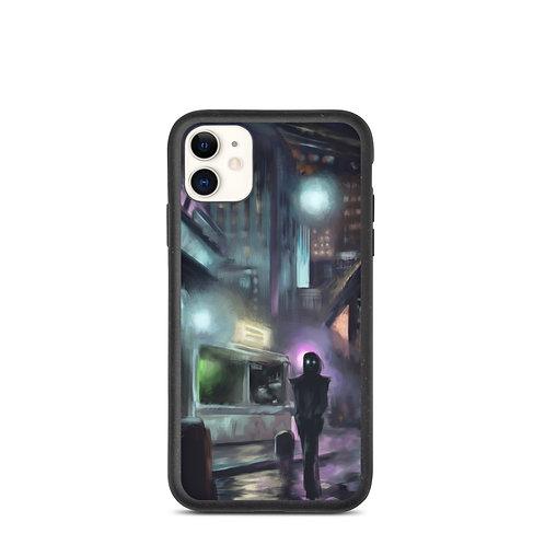 "iPhone case ""Cyberpunk City"" by Hymnodi"