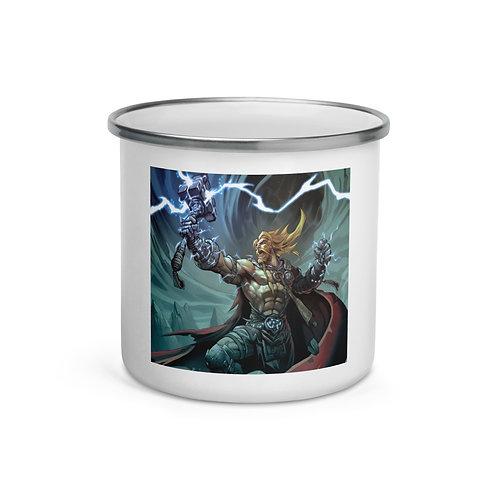 """Enamel Mug """"Thor"""" by """"el-grimlock"""""""
