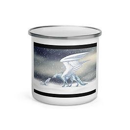 """Enamel Mug """"Frost"""" by Lizkay"""