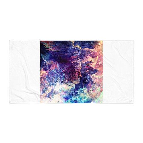 "Beach Towel ""Eagle and the Space Carp"" by Solar-sea"