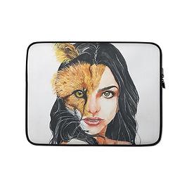 """Laptop sleeve """"A Beautiful Beast"""" by Bikangarts"""