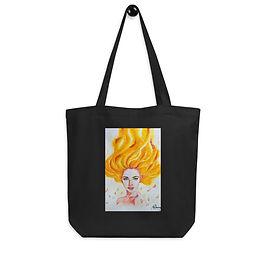 """Tote bag """"Burn"""" by Bikangarts"""