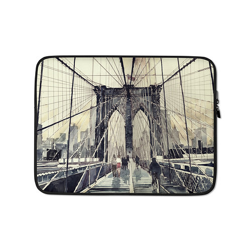 "Laptop sleeve ""Brooklyn Bridge"" by Takmaj"