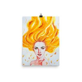 "Poster ""Burn"" by Bikangarts"