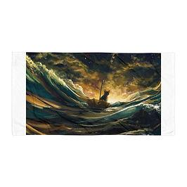 "Beach Towel ""Lost At Sea 2.0"" by Hymnodi"