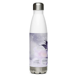 """Water Bottle """"Arctic Ghost"""" by Astralseed"""