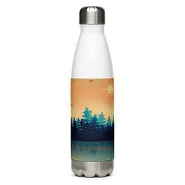 "Water Bottle ""Winter Reflection "" by Saddielynn"