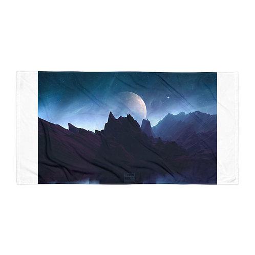 "Beach Towel ""The Cosmic Silence"" by Elysekh"