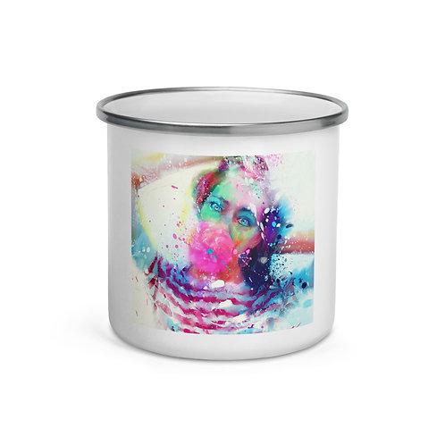 """Enamel Mug """"Bubble Yum"""" by """"phatpuppyart-studios"""""""