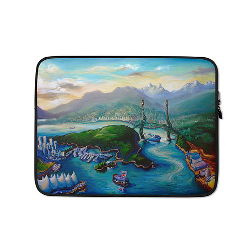 """Laptop sleeve """"Magic Hour"""" by LauraZee"""