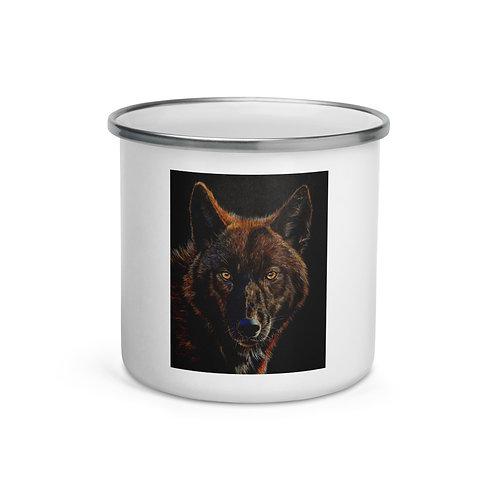 """Enamel Mug """"Black on Black"""" by beckykidus"""