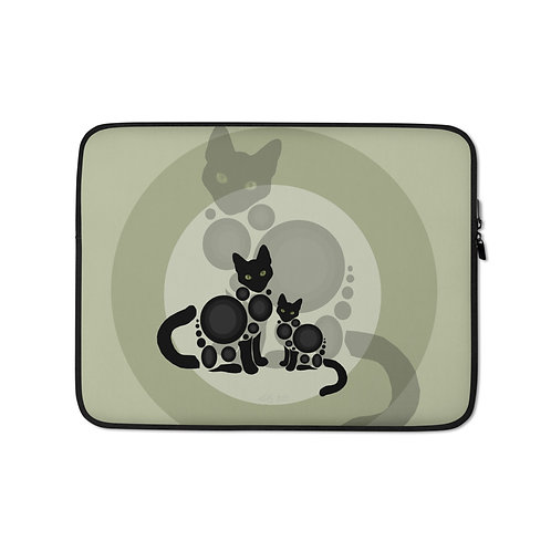 """Laptop sleeve """"Meow"""" by Astralseed"""