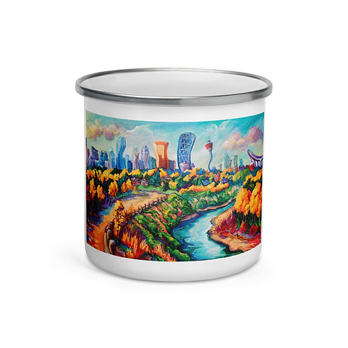 "Enamel Mug ""Calgary Horizon"" by ""LauraZee"""