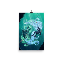 """Poster """"Drown"""" by Astralseed"""