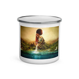 """Enamel Mug """"Fountain of Eternity"""" by """"Aegis-Illustration"""""""