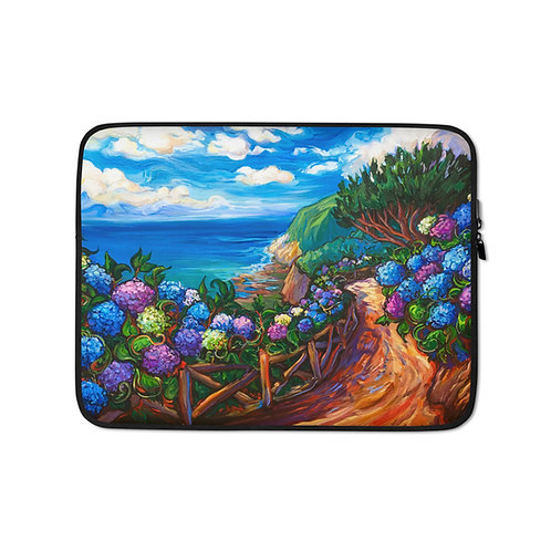 """Laptop sleeve """"Azores Walk"""" by LauraZee"""
