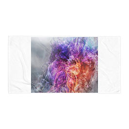 "Beach Towel ""Ice Prince and the Phoenix"" by Solar-sea"