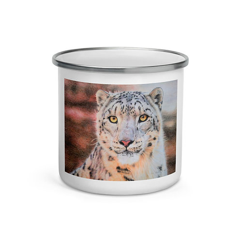 "Enamel Mug ""Snow Leopard"" by Beckykidus"