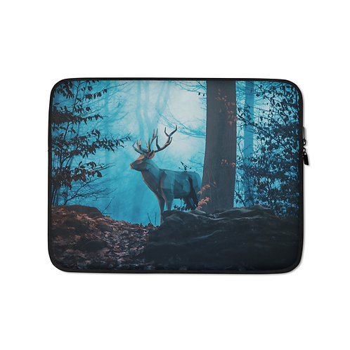 """Laptop sleeve """"Blue Forest"""" by Hotamr"""