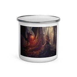 "Enamel Mug ""The Dragon Tamer"" by ""phatpuppyart-studios"""