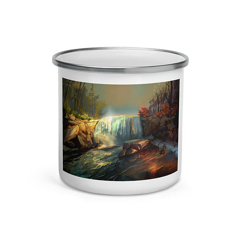 """Enamel Mug """"Whitney Falls"""" by """"chateaugrief"""""""