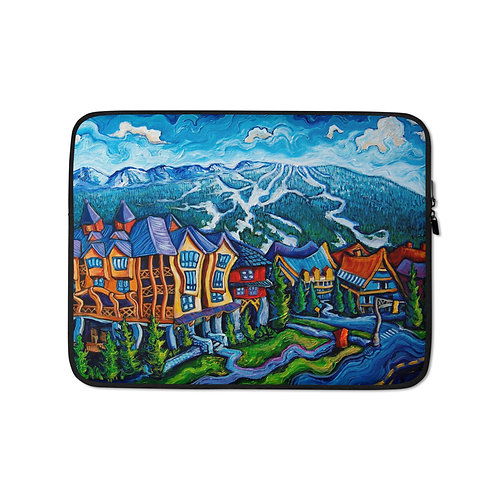 """Laptop sleeve """"Whistler Village"""" by LauraZee"""