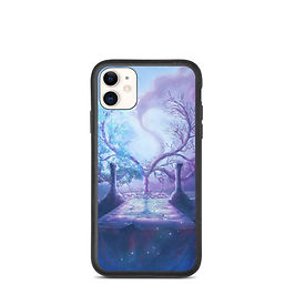 """iPhone case """"Crescent Tree"""" by Ashnoalice"""
