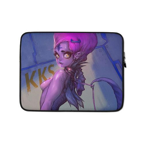 "Laptop sleeve ""Purple Girl"" by Elsevilla"