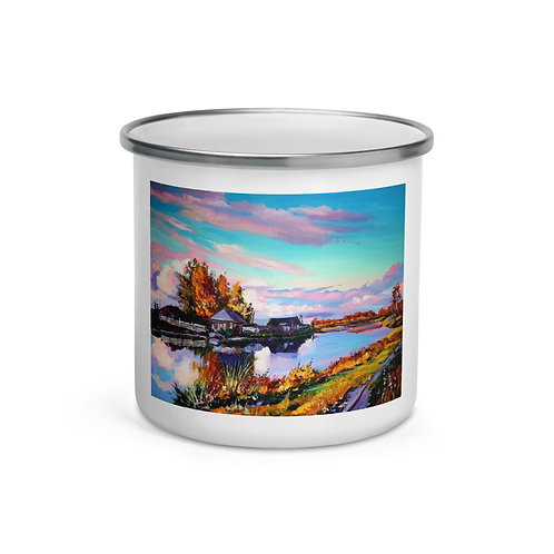 "Enamel Mug ""Near the Pond"" by ""Gudzart"""