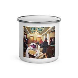 "Enamel Mug ""Grand International Hotel"" by ""JeffLeeJohnson"""