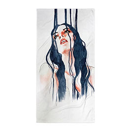 "Beach Towel ""Overflow"" by Bikangarts"