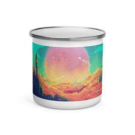 """Enamel Mug """"After Life"""" by Ashnoalice"""