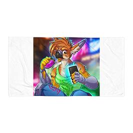 """Beach Towel """"Cyberpunk Gryph"""" by Lizkay"""