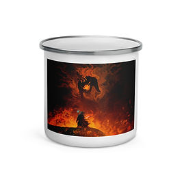 "Enamel Mug ""The Shadow and the Flame"" by ""Anatofinnstark"""