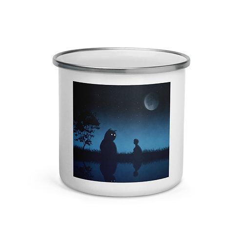 "Enamel Mug ""The Friend of the Night"" by Hotamr"