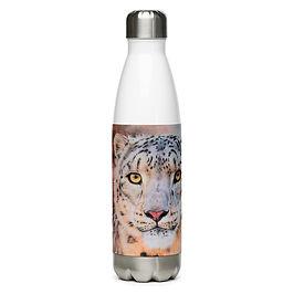 """Water Bottle """"Snow Leopard"""" by Beckykidus"""
