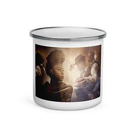 """Enamel Mug """"The Speakeasy"""" by """"phatpuppyart-studios"""""""